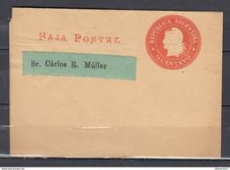 Faja Postal Republica Argentina - Entiers Postaux