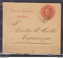Faja Postal Republica Argentina Naar Esperanca - Entiers Postaux