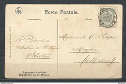 Postkaart Van Anthee Naar Muysen (Malines) - 1893-1907 Stemmi