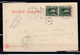 Postkaart Van Ebanon Naar Anvers (Belgie) - Lettres & Documents