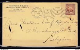 Brief Van Bridgeport Naar Gand The Smith & Egge - Lettres & Documents