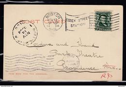 Postkaart Van Boston Naar Providence - Lettres & Documents