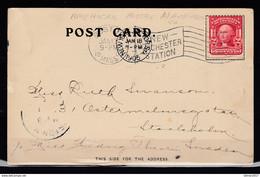 Postkaart Van Boston Naar Stockholm - Lettres & Documents