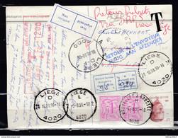 Postkaart Van Liege D Getakseerd In Liege 1 - Covers & Documents
