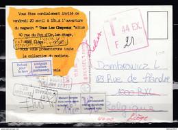 Postkaart Van Liege 1 Naar Bruxelles - Covers & Documents