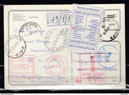 Postkaart Van Oostende 1 Naar Antwerpen Met Taksstempel - Covers & Documents