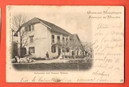 ZOX-36  Gruss Aus Magglingen Souvenir De Macolin. Restaurant ANIME. Dos Simple. Cachet Bienne 1900 - BE Berne