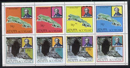 Staffa 1979 Mendelssohn's Visit Perf Set Of 8 Values (14p X 4 & 18p X 4) Showing Map & Fingal's Caves Unmounted Mint - Emissions Locales