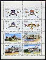 Staffa 1973 Queen's Birthday Opt'd On Silver Wedding Perf Sheetlet Containing Set Of 8 Values Unmounted Mint - Emissions Locales