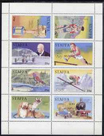 Staffa 1973 IBRA (Stamp Exhibition) Overprinted On 1972 Pictorial Perf Sheetlet Containing 8 X 25p Values Unmounted Mint - Emissions Locales