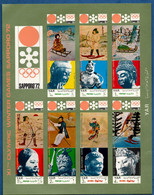 2106.2161 Yemen 1971 Wintergames In Middleages Imperforated Leaflet MNH Sculptures - Andere