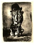 Satire Dans L'art, Illustrateur A. Paul Weber, 65 Ich Sehe Schwarz, Pot De Chambre - Andere Illustrators
