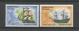 Christmas Islands  1972-73 Ships  Y.T. 53+54 ** - Christmas Island