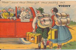 """Vichy (03 Allier) Carte à Système Dépliant """"mais! Sans Vous Déranger Vous Pourrez Voir Vichy"""" Bus Complet -édit Guy N° 9 - Vichy"""