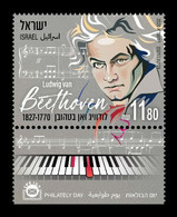 Israel 2020 Mih. 2750 Music. Composer Ludwig Van Beethoven MNH ** - Nuevos (con Tab)