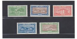 ISLANDE -- ICELAND -- Facit N° 168*  à  172* -- Charnières Légéres - Unused Stamps