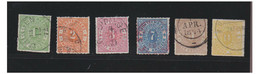 ALLEMAGNE --GERMANY -1869--  Série Yvert Et Tellier N° 36 à 41 -- Oblitérations Légères -- - Wurtemberg