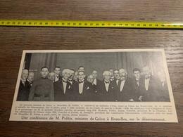 1932 PATI1 Conférence Désarmement à Bruxelles Politis Van Caneghem Janson Heyman - Zonder Classificatie