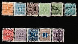 DANEMARK - TAXE N°1/18 */obl (1921-27) - Port Dû (Taxe)