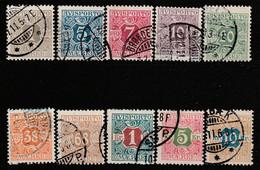 DANEMARK - Poste Aérienne N°1/10 Obl (1907) Filigrane Couronne - Poste Aérienne