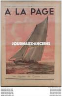 1934 Journal A LA PAGE - LES REGATES DE COWES - ELEVAGE DES FAISANS - POLOGNE ZAKOPANE - SAINT SATURNIN ( LOT ) - 1900 - 1949