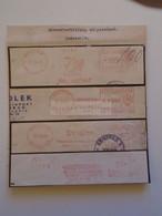 ZA114.20   Yugoslavia  1963-64 Meter Cut / Freistempel / EMA / Machine Stamps  Beograd  Jugosped Jugotransport Jugolek - Cartas