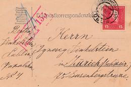 Polen: Lublin 1917 Nach Zürich - Zensuriert - Non Classés
