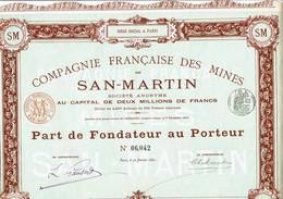 75-MINES DE SAN-MARTIN. CIE FSE DES ...   Imprimerie RICHARD   1891 - Other