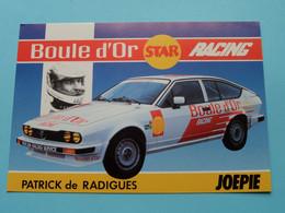 Patrick De RADIGUES : ALFA ROMEO GTV 6 Boule D'Or Racing ( Zie / See / Voir Photo ) ! - Autres
