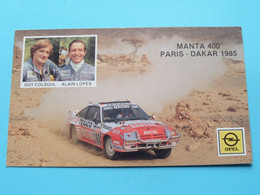 Guy COLSOUL & Alain LOPES : MANTA 400 - PARIS-DAKAR 1985 ( Zie / See / Voir Photo ) ! - Autres