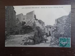 """Carte Assez Rare , Les Pennes-mirabeau , Ruines De L'ancien Château Féodal """""""" Carte Animée """""""" - Autres Communes"""