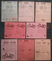 """8 Publicités - Cycles """" FAVOR """" - Années 1956 / 1964 - Moto Cyclomoteur Vélo - Motorfietsen"""