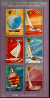 2106.2166 Yemen 1971 Kiel Olympic Sailing Leaflet MNH Belouga, Flying Dutchman, Finn-Dinghi, Meter Class - Summer 1972: Munich