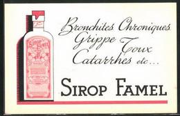 AK Sirop Famel, Medikament Gegen Bronchitis Und Grippe - Publicité