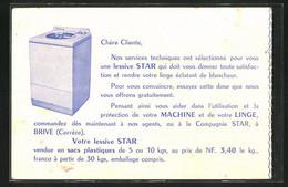 AK Brive, Compagnie Star, Reklame Für Waschmaschine - Publicité