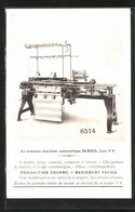 AK La Fameuse Machine Automatique Dubied Type VV, Reklame Für Nähmaschine - Publicité
