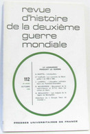 Revue D'histoire De La Deuxième Guerre Mondiale - N°112 - Le Languedoc Pendant La Guerre - Sin Clasificación