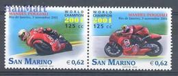 San Marino 2002 Mi 2010-2011 MNH  (ZE2 SMRpar2010-2011) - Cars