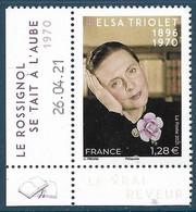Elsa Triolet Coin Daté (2021) Neuf** - Neufs