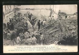 CPA Nogent-sur-Seine, La Catastrophe Du 31 Octobre 1911, Explosion - Nogent-sur-Seine