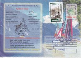 A9651- GORJ ROMANIA TOURISM ACTIVITIES, ROMANIAN POSTAGE USED STAMP, ROMANIA COVER STATIONERY PETROSANI 1999 - Postal Stationery