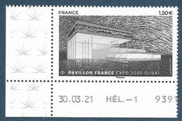 Pavillon France - Dubaï 2020 Coin Daté (2021) Neuf** - Neufs