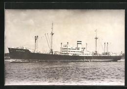 AK Handelsschiff Wuppertal, Das Schiff Fährt In Den Hafen - Comercio