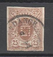 Luxemburg , Nr . 8 Mit Dünner Stelle - 1852 Guglielmo III