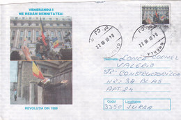 A9667- ROMANIAN REVOLUTION OF 1989, END OF THE COMMUNISM REGIME, ROMANIA COVER STATIONERY, GHERLA 1999 - Postal Stationery