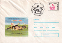 A9668- INTERNATIONAL PHYLATELIC EXHIBITION SOCFILEX '89 BACAU 1989, ROMANIA COVER STATIONERY - Postal Stationery