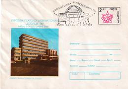 A9669- INTERNATIONAL PHYLATELIC EXHIBITION SOCFILEX '89 BACAU INTITUTE 1989, ROMANIA COVER STATIONERY - Postal Stationery