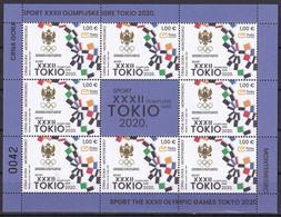 MONTENEGRO 2021,SUMMER OLYMPIC GAMES,TOKYO,SPORT,SHEET,VIGNETTE,MNH - Summer 2020: Tokyo