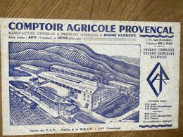 BUVARD COMPTOIR AGRICOLE PROVENCAL - Agriculture