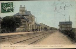 CPA Chalonnes Sur Loire Maine Et Loire, Gare De Chalonnes Etat - Otros Municipios